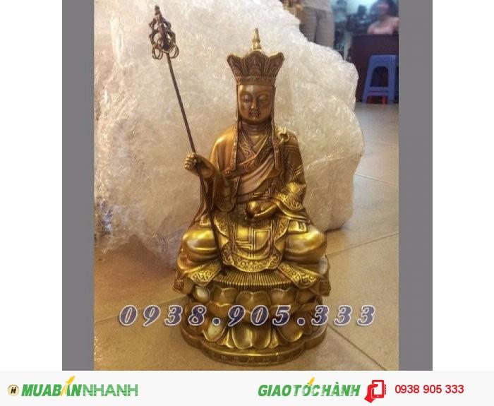Tượng địa tạng vương bồ tát ngồi cao 50cm,tượng thờ cúng bằng đồng dùng trong gia đình và đền chùa0