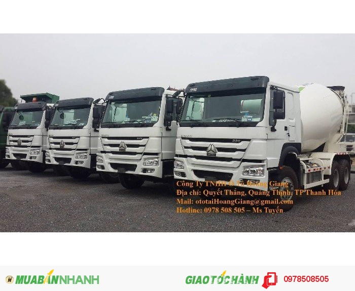 Báo giá xe tải bồn trộn giá rẻ ở Thanh Hóa