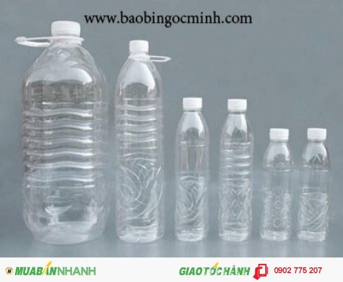 Chai nhựa nước suối, chai nhựa pet 330ml, 500ml0