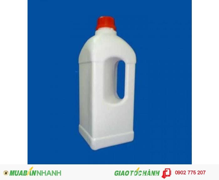 Chai nhựa 1 lít tròn, chai nhựa 1 lít vuông, hình chữ nhật1