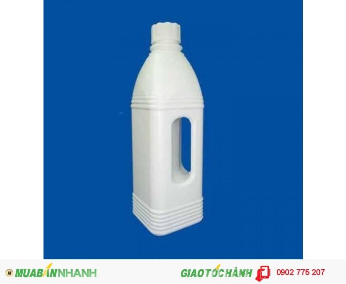 Chai nhựa 1 lít tròn, chai nhựa 1 lít vuông, hình chữ nhật2