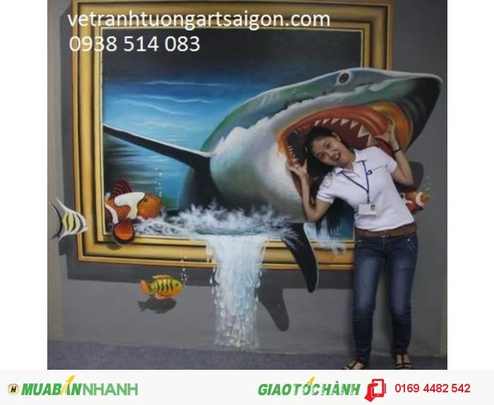 Dịch vụ vẽ tranh tốt nhất, chuyên vẽ tranh tường các loại, tranh showroom, shop, tranh trường mầm nôn