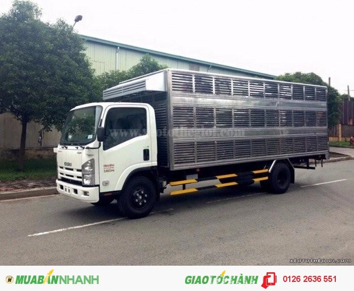 Xe tải Isuzu NQR75M Thùng chở Gà 5.5 tấn, tặng máy lạnh