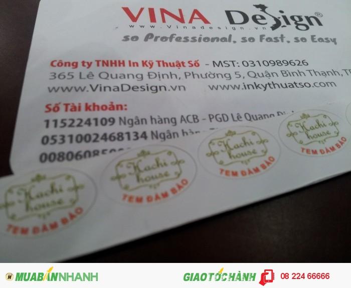 Tem bảo hành được thực hiện in ấn tại In Kỹ Thuật Số với đa dạng kiểu dáng và thiết kế