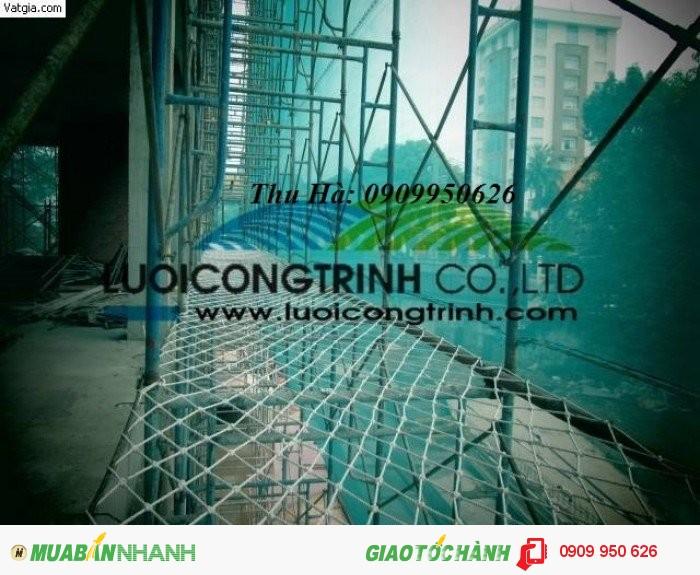 Lưới an toàn dùng trong công trình xây dựng