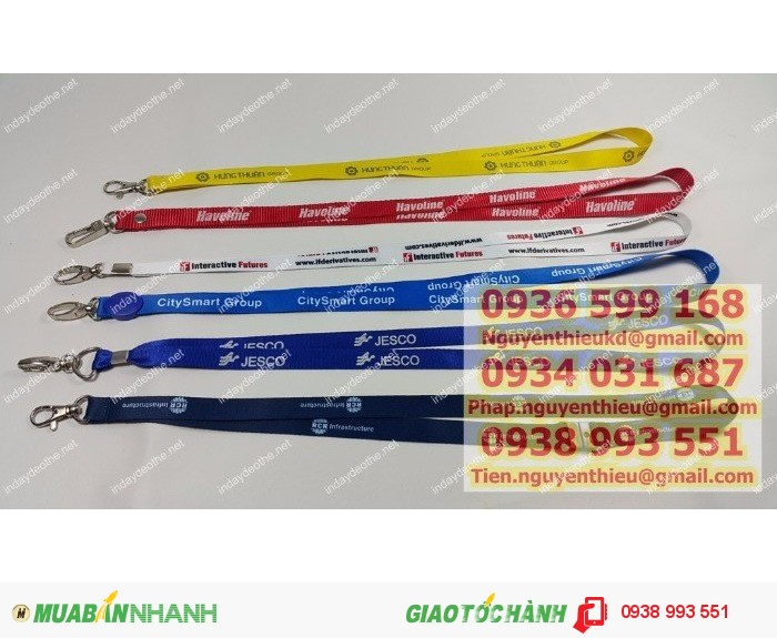 Công ty in dây đeo thẻ giá rẻ, xưởng in dây đeo thẻ giá rẻ làm quà tặng, in dây đeo thẻ