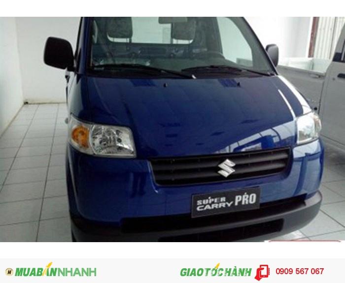 Xe tải suzuki carry pro 870kg xe màu xanh super mạnh mẽ có máy lạnh theo xe!