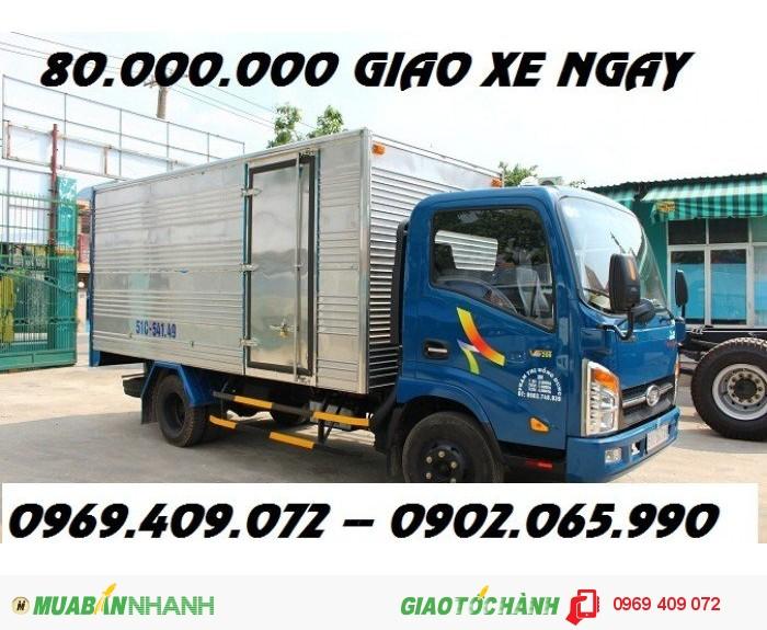 Mua xe veam 1.9t thùng dài 4m4 / Bán xe veam vt 200-1 1.9t giá rẻ nhất miền namMua xe veam...