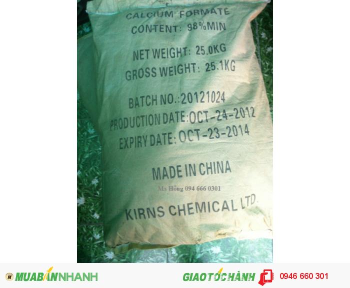Calcium Formate, Ca(HCO2)2, thức ăn chăn nuôi, thuốc thủy sản, Calcium Diformate, thCalcium Formate0