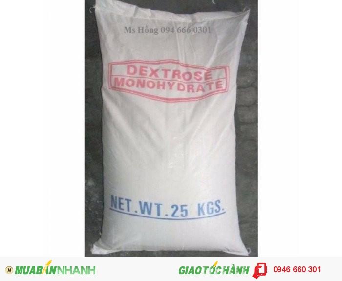 Dextrose Monohydrate, Đường Gluco, Đường hóa học, Phụ gia tạo ngọt, Dextro khan3