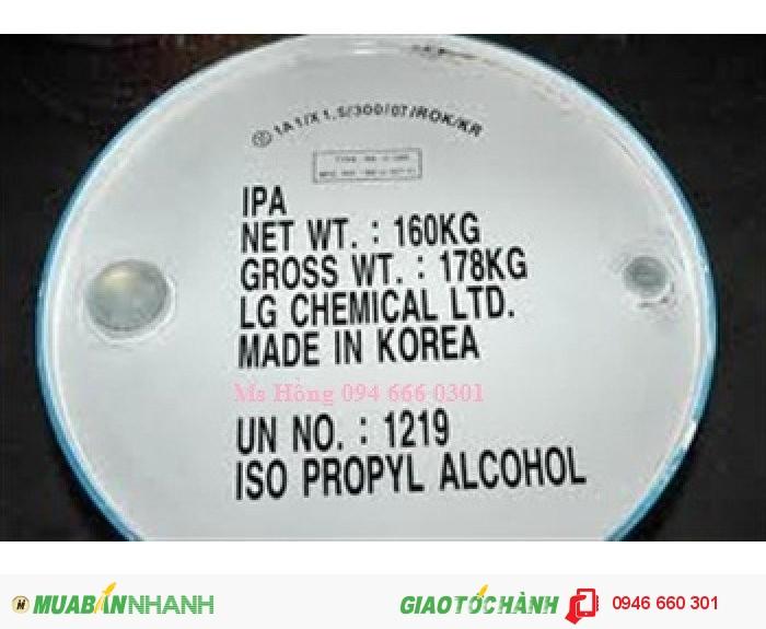 IPA, Isopropyl Alcohol, C3H8O, dung môi dệt nhuộm, sản xuất dầu thực vật0