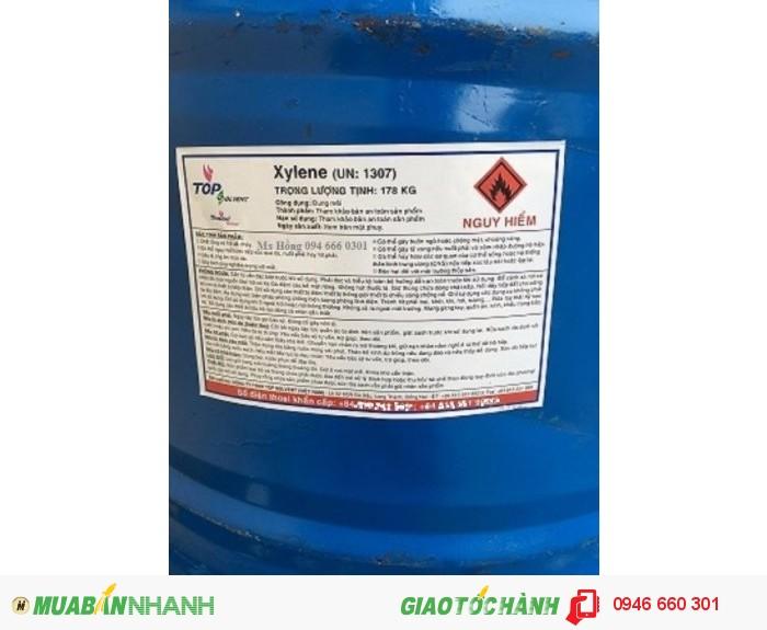Xylene, dung môi sơn, sản xuất thuốc trừ sâu, keo dán cao su, Xylol0