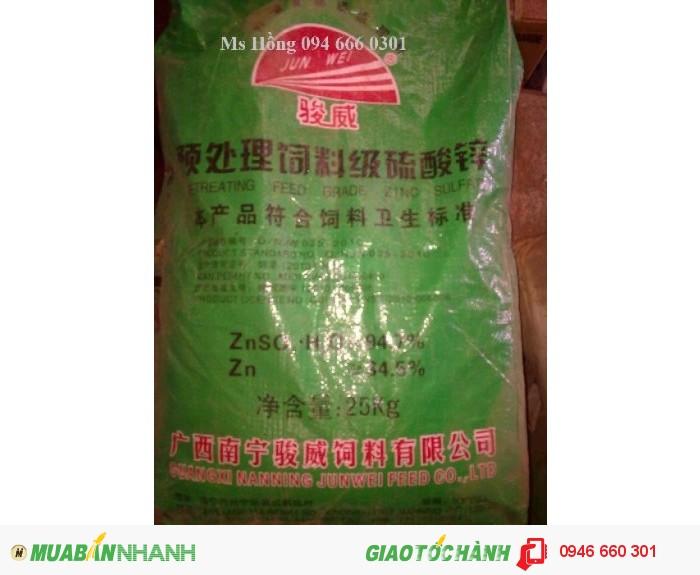 Zinc Sulfate, ZnSO4, Kẽm Sulphate, sản xuất sợi Vitco, thức ăn chăn nuôi, phân bón0