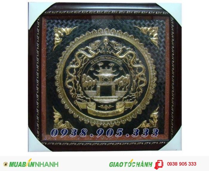 Tranh Chữ Tâm hóa rồng 60x60cm bằng đồng1