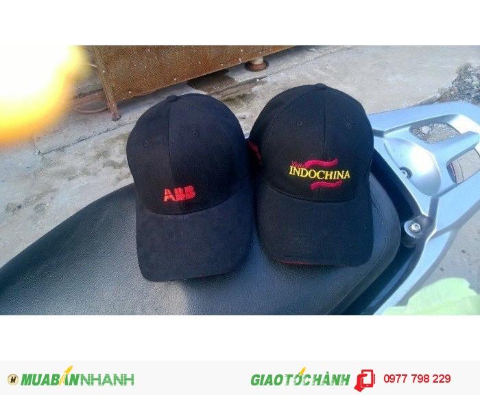 Mũ thêu logo kĩ, theo yêu cầu