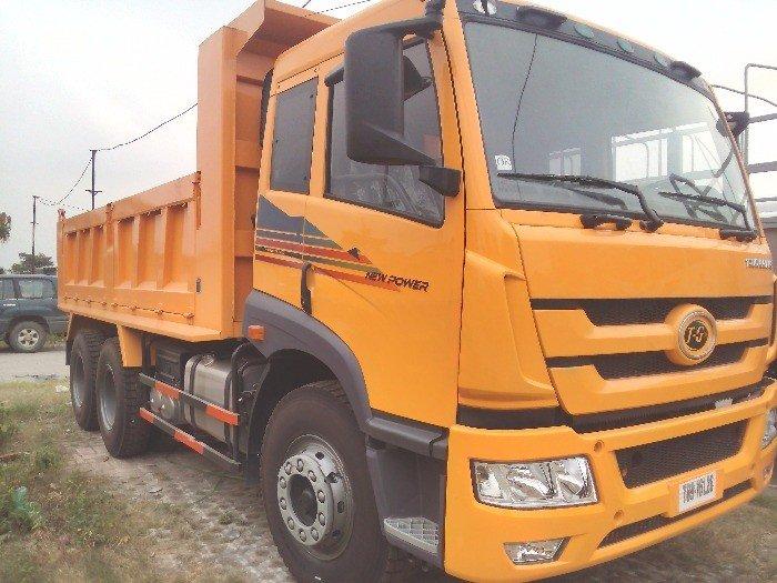 Bán xe tải ben 3 chân Faw    tải trọng cao 13.570 tấn