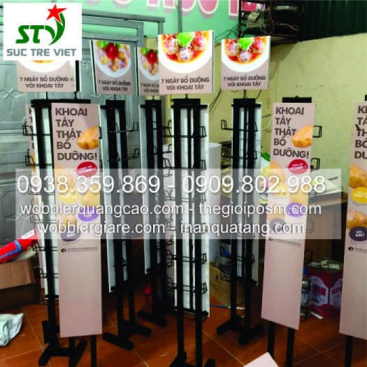Gia công kệ sắt, standee