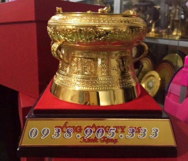 Trống đồng mạ vàng đk 12cm, quà tặng lưu niệm trống đồng4