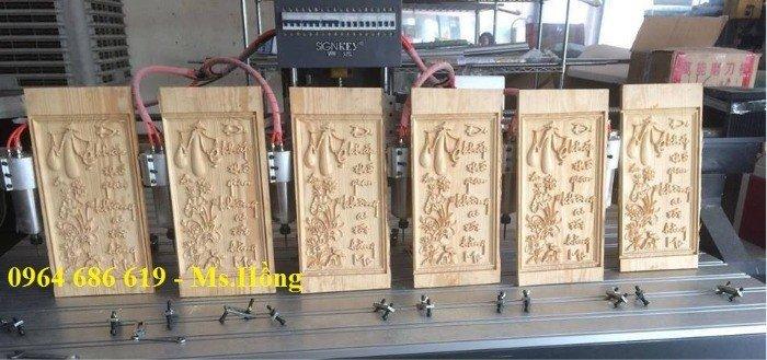 Máy đục gỗ cnc 2518 - 6 đầu, máy cnc 6 đầu đục tranh, đục chân sập.. giá rẻ