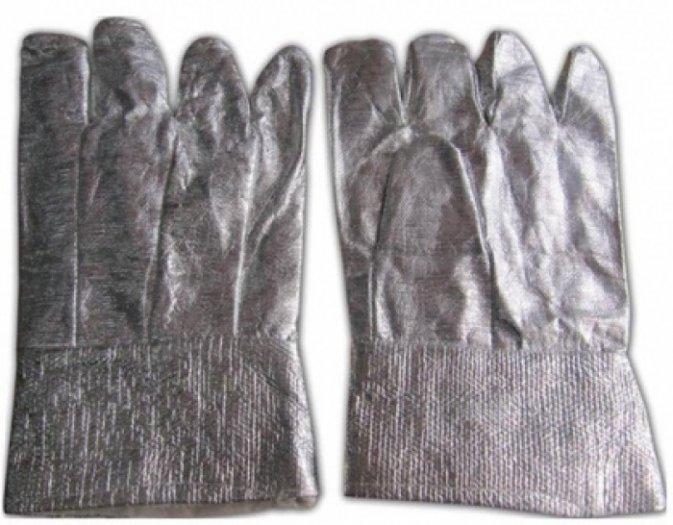 Găng tay chịu nhiệt , chống cháy tráng bạc loại ngắn GK002