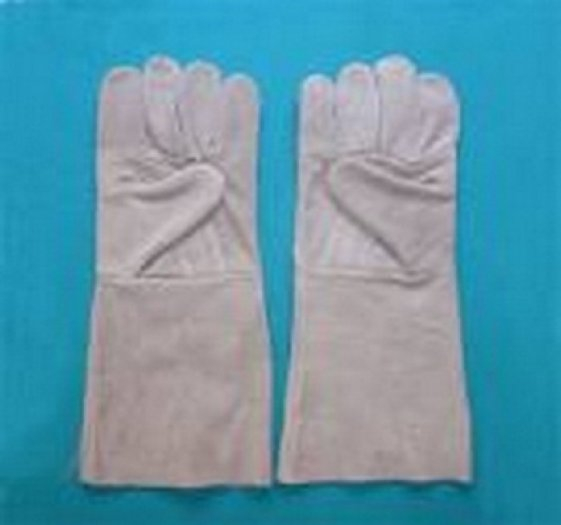 Găng tay da hàn dài