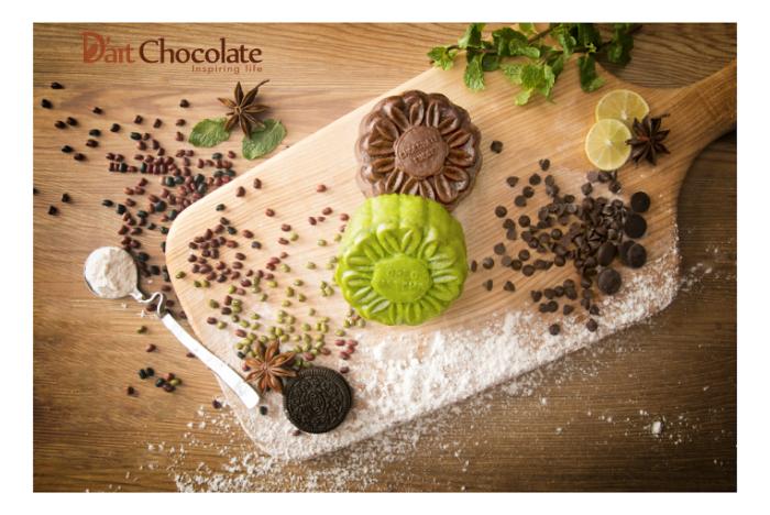 Hộp bánh trung thu D'art Chocolate  Vị trăng nguyên khởi A1