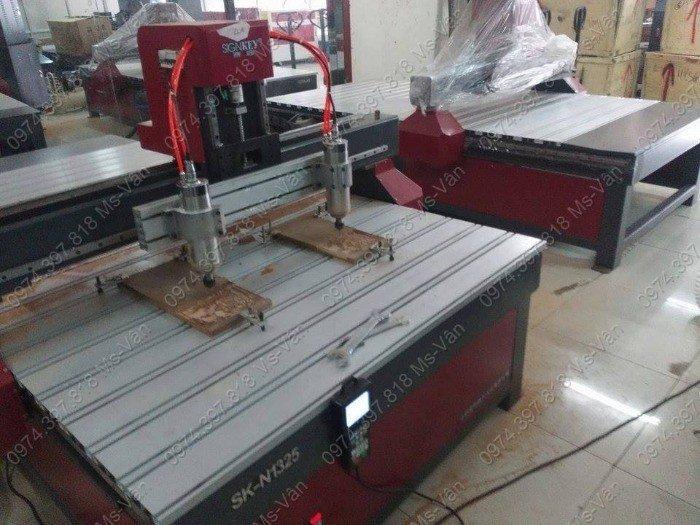 Máy cnc 1325-2 đầu,máy cnc 2 đầu khắc tranh,máy cnc 2 đầu giá rẻ,máy cnc 2 đầu nhập khẩu