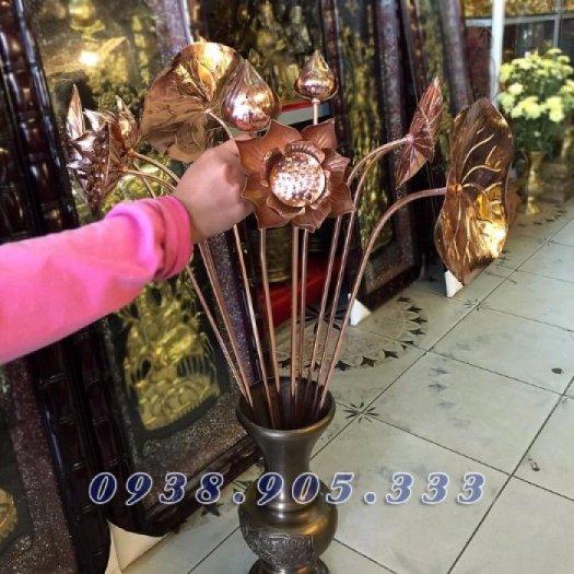 Hoa sen đồng, sen đồng mỹ nghệ, sản phẩm gò đồng thủ công mỹ nghệ đồ thờ cúng gia tiên1