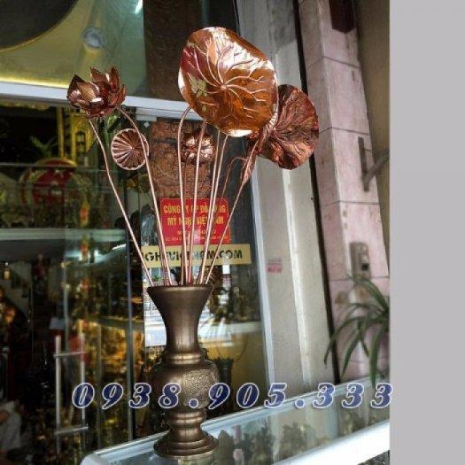 Hoa sen đồng, sen đồng mỹ nghệ, sản phẩm gò đồng thủ công mỹ nghệ đồ thờ cúng gia tiên2