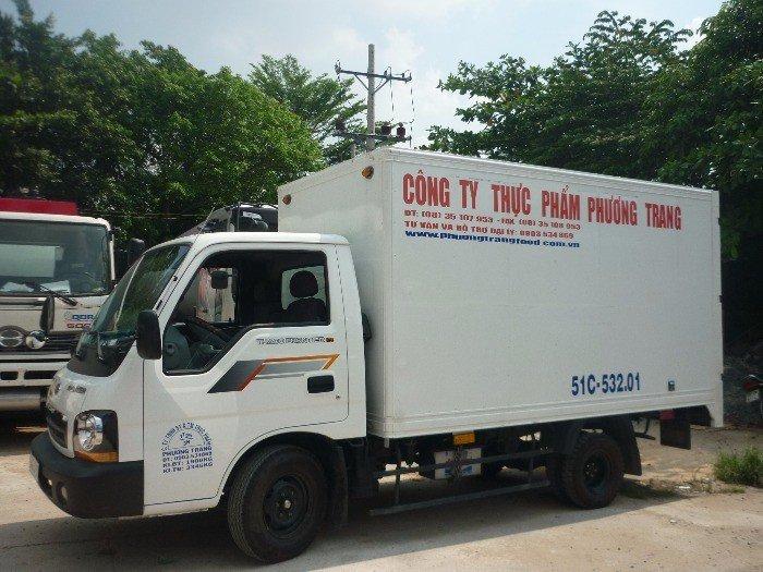 Cho thuê xe tải Kia mới đời 2015, Thùng kín, màu trắng giá 8,5tr/tháng