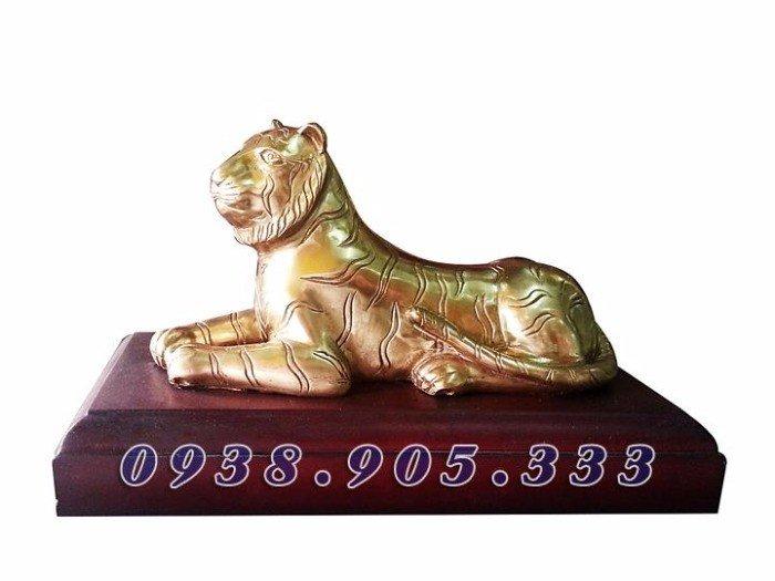 Tượng hổ bằng đồng cao 16cm, tượng phong thủy cho người thiếu Mộc0
