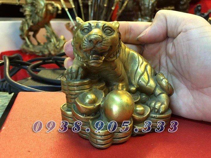 Tượng hổ bằng đồng cao 16cm, tượng phong thủy cho người thiếu Mộc3