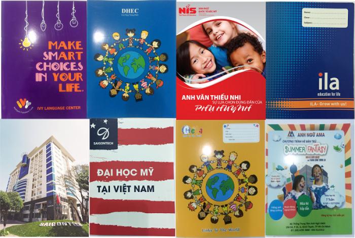 Bìa trường ngoại ngữ, trung tâm ngoại ngữ