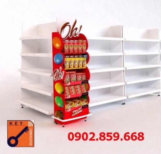 Sản xuất quầy kệ, ụ trưng bày, đầu kệ siêu thị theo yêu cầu giá cực rẻ, 2