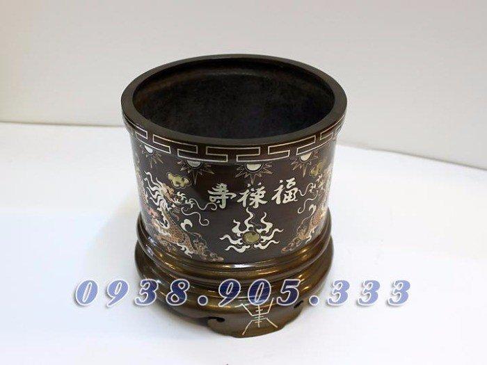 Sản xuất Bát hương đồng, bát hương khảm tam khí1