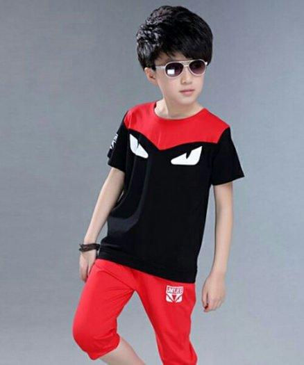 Bộ bé trai đen đỏ1