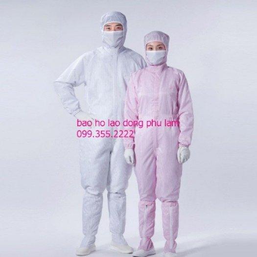 Áo liền quần liền mũ phòng sạch chống tĩnh điện