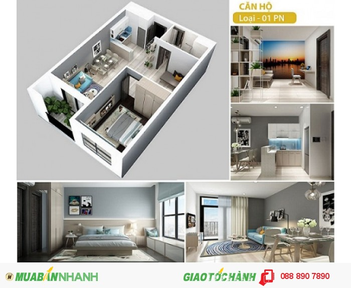 Bán CH Hà Đô Centrosa Garden-1pn-52m2-giá từ 43tr/m2, giá gốc CĐT.