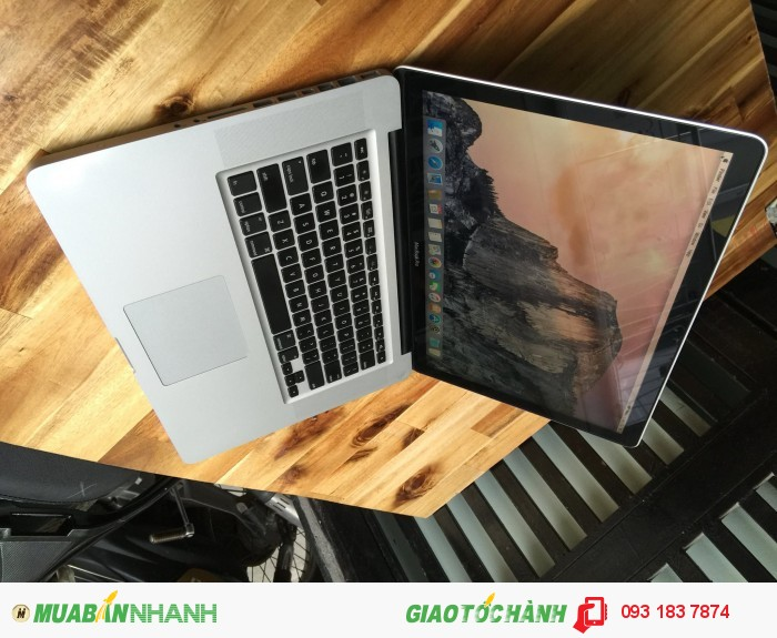 Laptop Macbook pro MC723 | lcd 15.4in led HD. (1440X900), chuẩn chuẩn, sắc nét.