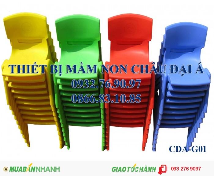 Ghế nhựa đúc nhập khẩu , ghế gỗ chân sắt , ghế mầm non0