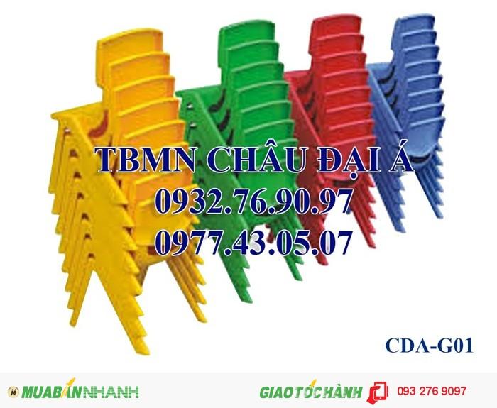 Ghế nhựa đúc nhập khẩu , ghế gỗ chân sắt , ghế mầm non2