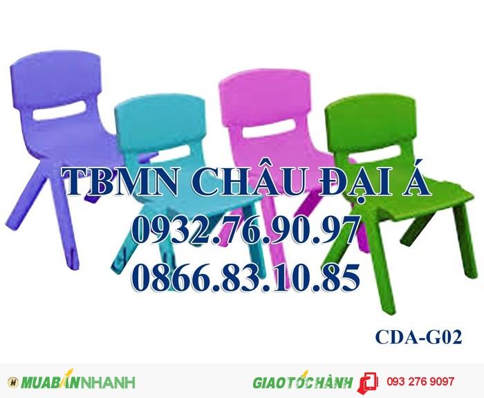 Ghế nhựa đúc nhập khẩu , ghế gỗ chân sắt , ghế mầm non3