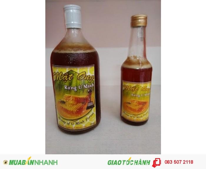 Mật ong rừng U Minh chai 750ml giá 330k, chai 300ml giá 140k1