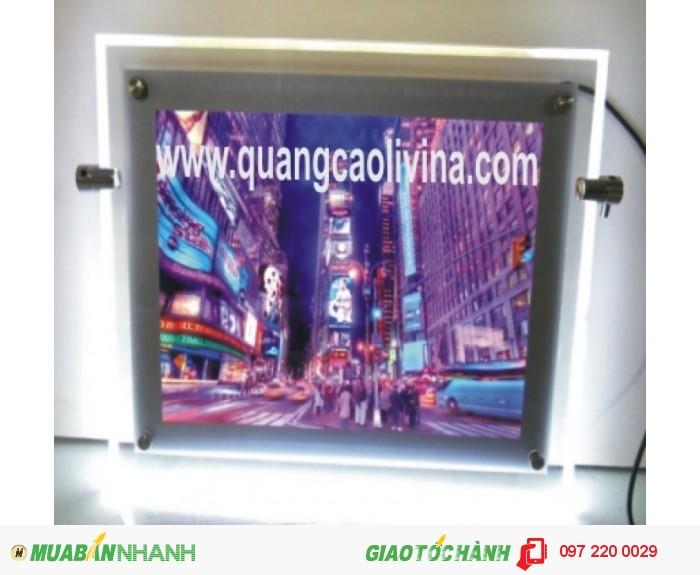 Làm biển hộp đèn mica giá rẻ tại Hà Nội