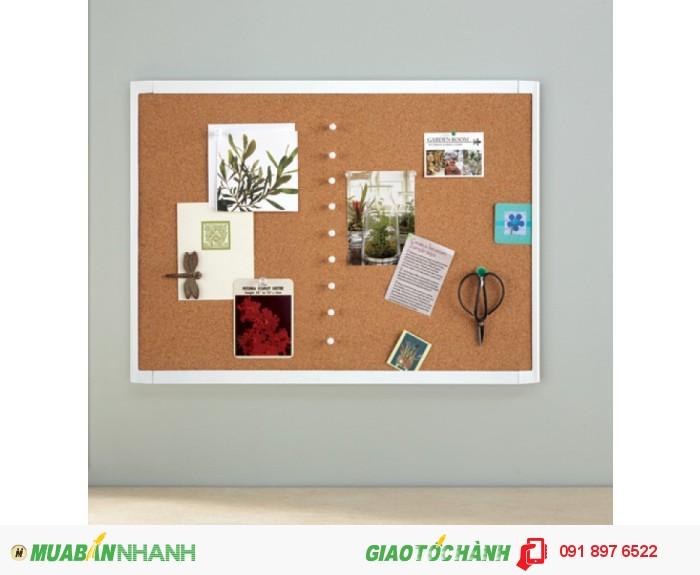 BẢNG GHIM QUARTET WHITE FRAME CORK BOARD MHOB17232