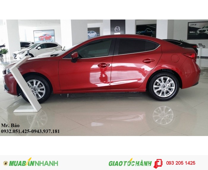 Chỉ cần 136tr+10 Thuế+PĐK+80% Ngân hàng bạn có thể sở hữu ngay Mazda 3 1.5L AT Skyactiv Sedan