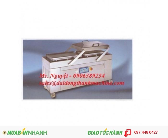 Máy hút chân không cá viên, bò viên, hải sản đông lạnh 2 buồng DZQ600-2SA1