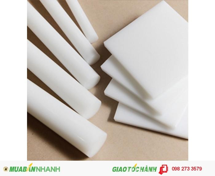 Nhựa POM loại màu trắng dạng cây và dạng tấm2