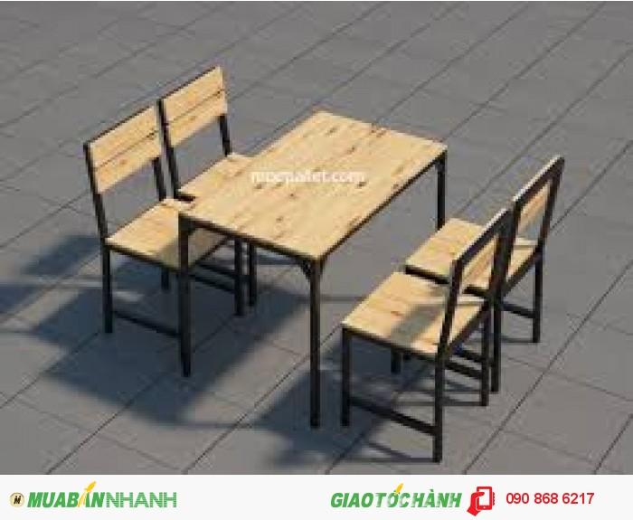 Bàn ghế quán ăn giá rẻ3