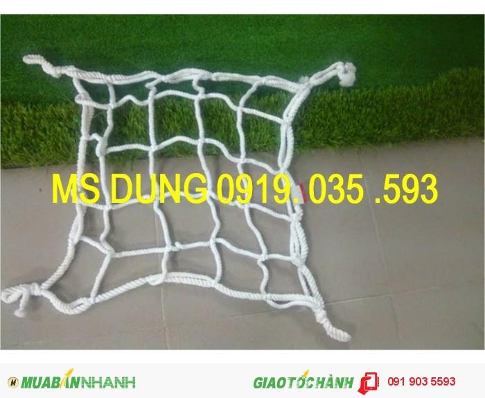Lưới chống rơi dù trắng, polyester korea ô 10cm, 5cm trong thi công công trình